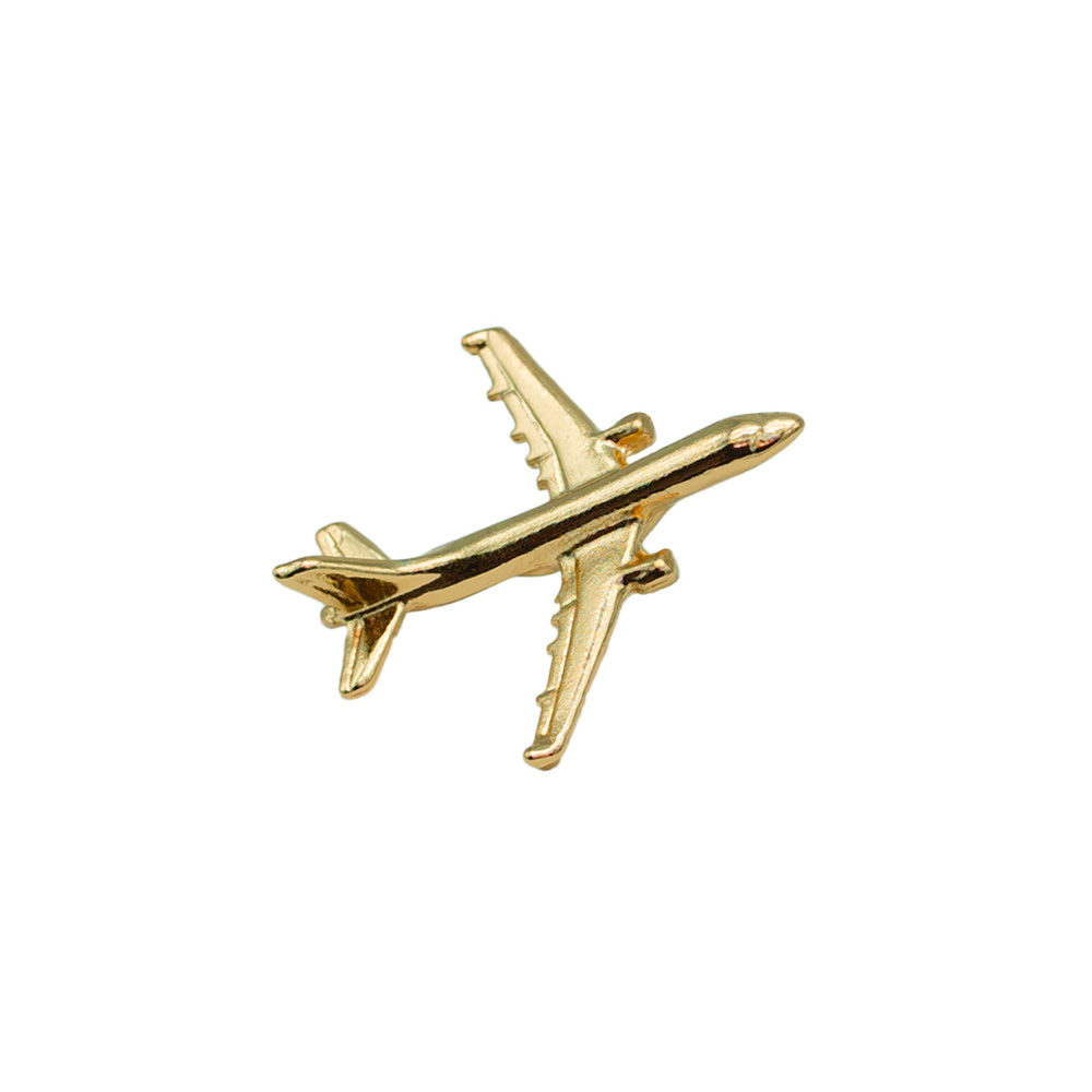 Airbus A321 Flugzeug Pin gold