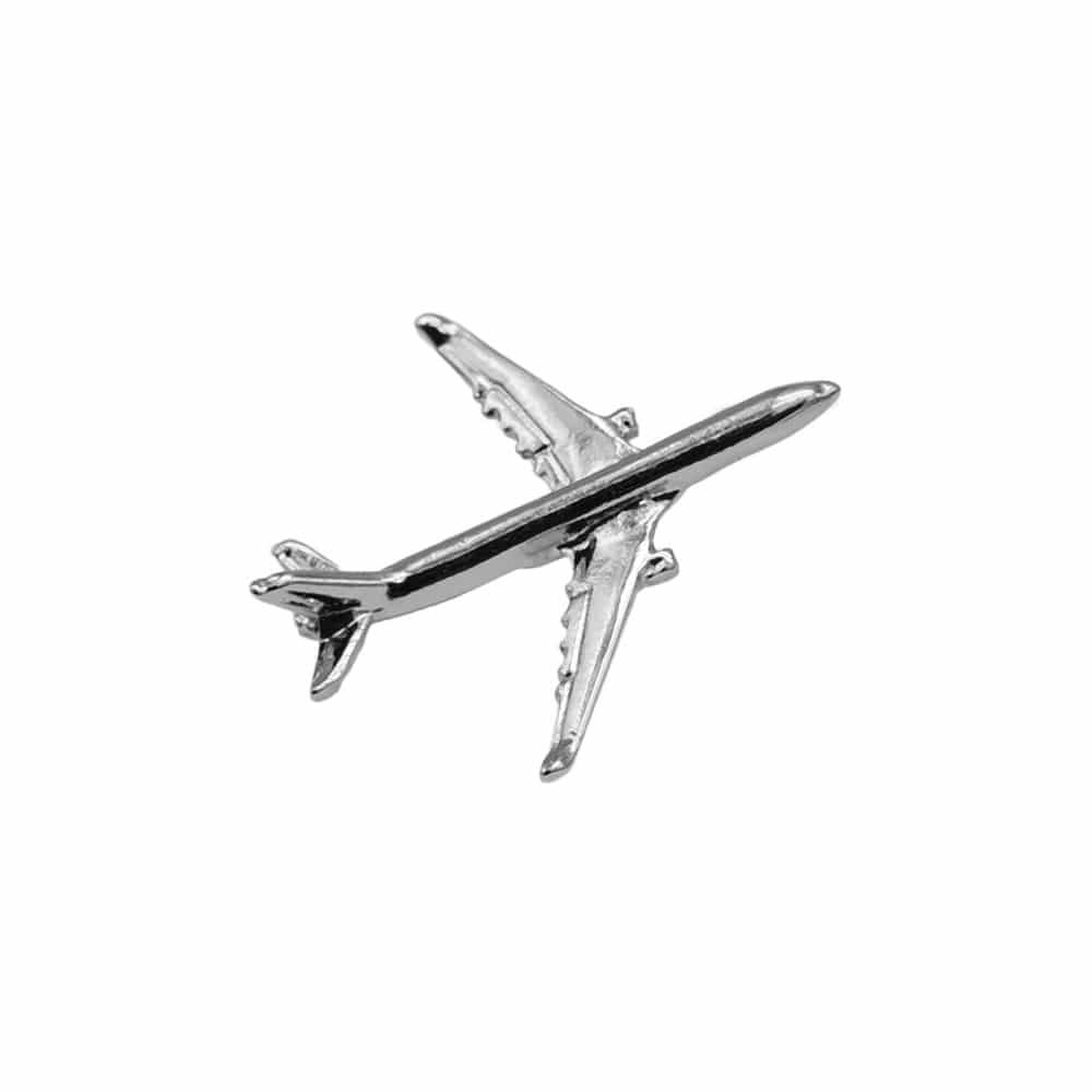 Airbus A330 Flugzeug Pin silber